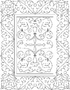 pattern of Bible cover for Henry the Eighth
