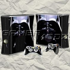 Darth Vader XBOX 360 Skin Set - Console Skin with 2 Controller Skins