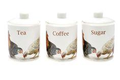 Lesser & Pavey has a number of farmyard-related items. Take the chickens on the new range of utensil holders and tea and coffee canisters; they feature a wonderful collection of hens. The company also offers a range of housewares with cows on, plus tractor mugs. www.leonardo.co.uk