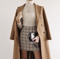 Casual Fall Outfits, Winter Fashion Outfits, Classy Outfits, Vintage Outfits, Fashion Pants, Autumn Outfits, Plaid Skirt Outfits, Beautiful Outfits, Modern Fashion Outfits
