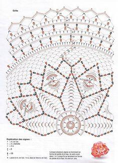 Photo from album Filet Crochet, Mandala Au Crochet, Crochet Doily Diagram, Crochet Circles, Crochet Doily Patterns, Crochet Round, Crochet Chart, Crochet Home, Thread Crochet