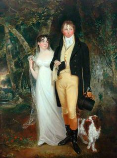 Captain and Mrs Edmund Burnham Pateshall by William Armfield Hobday    Date painted: 1810 Oil on canvas, 238 x 175 cm Collection: Scarborough Museums and Gallery