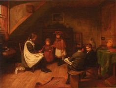 """The new pupil"". Harry Brooker (1848-1940), British painter."