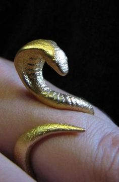 Snake Ring size 12 by Eeppium on Shapeways, the 3D printing marketplace