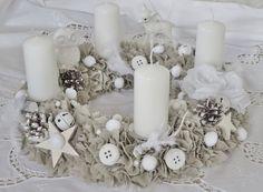 ~☆~ Großer Adventskranz aus Stoff ~☆~ von Weidenröschen auf DaWanda.com