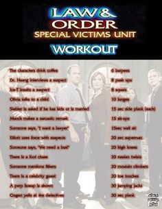 Omg...if I would actually do this, imagine the sick workout I could get done during a Sunday morning SVU marathon!!!