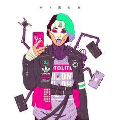 My exploration of cyberpunk, street wear, future wear, and, brands. Cyberpunk City, Cyberpunk Kunst, Cyberpunk Aesthetic, Cyberpunk 2077, Character Inspiration, Character Art, Character Design, Character Ideas, Character Concept