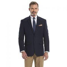 Big & Tall Croft & Barrow® True Comfort Classic-Fit Sport Coat, Men's, Size: 46 X-LONG, Navy (Poly Blend)