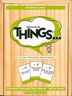 The Game of Things Humor in a Box! Ages 14 to Adult, Multicolor Game Pass, Adult Party Games, Games To Buy, Simple Rules, Toys Online, Your Turn, Family Games, Read Aloud, How To Know