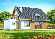 Delisa Bis Fot. Domplan #domowy #projektgotowy #idealnydom #dom www.domowy.pl/projekty-domow/dpl-delisa-bis.html