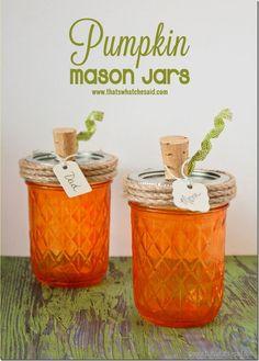 Pumpkin Mason Jars a