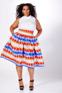Plus size african print maxi dress