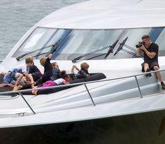 Angelina Jolie, Brad Pitt's Australian Yacht Excursion With All Six Kids!