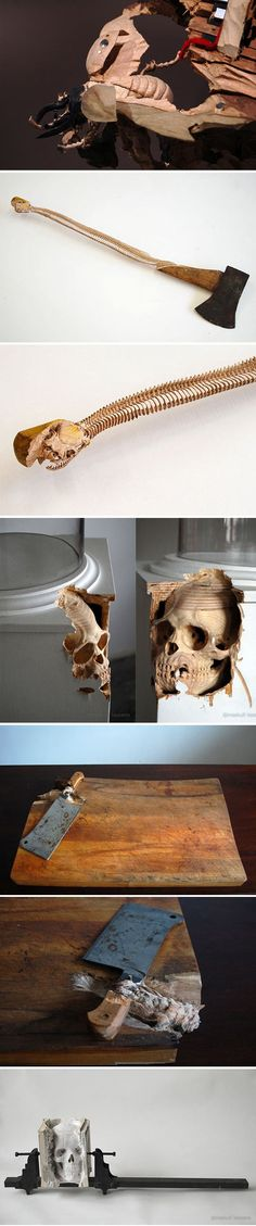 cool-Maskull-Laserre-wood-carving-sculptures-axe