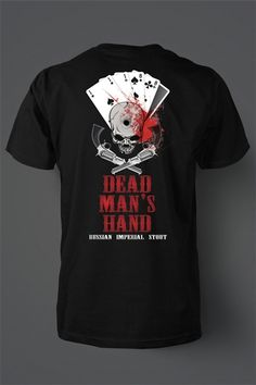 e666356e Dead Man's Hand, the Russian Imperial Stout design from @Thomas Hosman  Brewery, Print