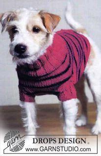 DROPS striped dog sweater ~ DROPS Design