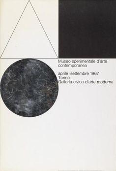 Museo sperimentale d'arte contemporanea - aprile-settembre 1967 - Torino - Galleria civica d'arte moderna-Plakat