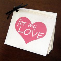 I need to make these love coupons! There's a free downloadable thingamajig with this tutorial. =) #DIY #Crafts