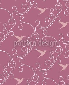 Lavender Hummingbird by Martina Stadler available as a vector file on patterndesigns.com Vector Pattern, Pattern Design, Hummingbird Illustration, Background Decoration, Vector File, Surface Design, Special Day, Lavender, Valentines