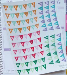 16 Weekend Banner Stickers for Jan-Apr Erin Condren by KGPlanner - WANT and NEED!!!!!!!