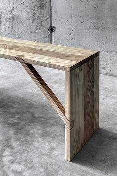 Chestnut bench TINTAN by FIORONI | design act romegialli