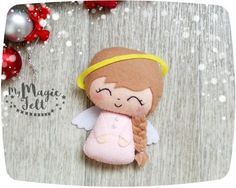 Christmas Ornaments felt Angel Christmas ornament by MyMagicFelt