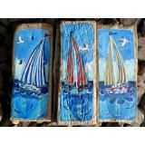 'striped sails' - driftwood arthttp://www.coastalhome.co.uk/driftwood/driftwood-art.html