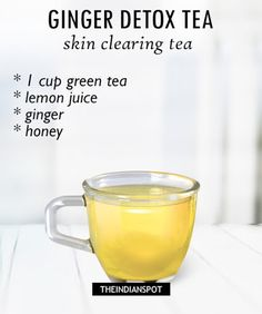 Morning Detox tea recipes for healthy body and glowing skin Recipe on Yummly
