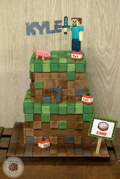 Minecraft Cake  #minecraft #minecraftcake #kidcake #gamer