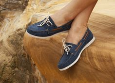 SAILOR in navy canvas - $119.95 Shoes Online, Sperrys, Boat Shoes, Sailor, Navy, Canvas, Shopping, Women, Fashion