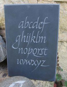 Jon Bush.alphabet 4, slate 2014