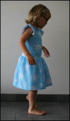 Made by Petrol & Mint: Cinderella ... in Hanami StraightGrain pattern dress