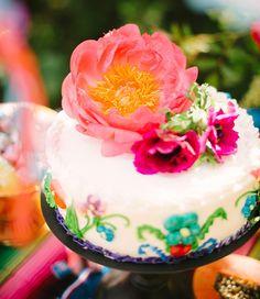 peony topped cake   Wedding & Party Ideas   100 Layer Cake