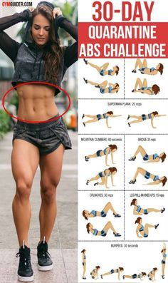 Workouts To Get Abs, 30 Day Ab Workout, Abs Workout Video, Month Workout, Easy Workouts, Get Abs Fast, How To Get Abs, 30 Day Ab Challenge, Workout Challenge