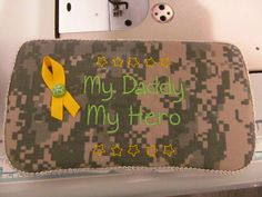 ACU ARMY fabric decorated embroidered baby wipe by DarLynDesigns, $12.00