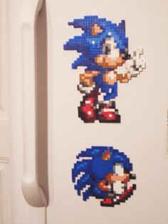 Sonic Magnet Bead Sprite by ~SerenaAzureth on deviantART