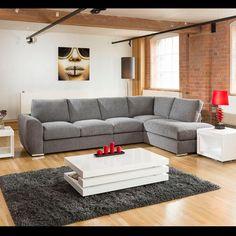 Gala extra large L shape settee corner 335cm x 210cm grey R. Call 02476 642139 or email sales@quatropi.com or visit www.quatropi.com for additional information.
