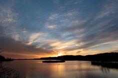 佐鳴湖の夕日