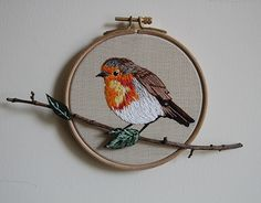 """Check out new work on my @Behance portfolio: """"embroidery robin bird"""" http://be.net/gallery/45656499/embroidery-robin-bird"""