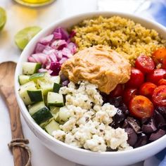 Mediterranean Quinoa Salad Bowl - Jessica In The Kitchen