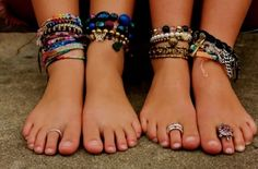 Boho Summer Style ~ are anklets back? I love this look!