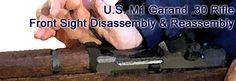 Garand Front Sight disassembly and reassembly M1 Garand, Firearms, Ohio, It Works, Guns, Blog, Weapons Guns, Columbus Ohio, Weapons