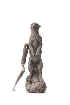 Oswaldtwistle Mills   Oakley Stone Animals - Meerkat