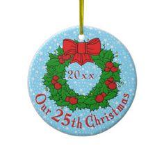 Our 25th Christmas Christmas Ornament