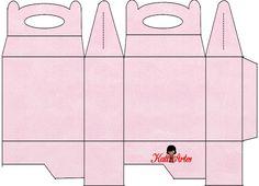 Textura Granulada: Cajas para Lunch, para Imprimir Gratis.
