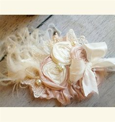 Pale Pink Rose Headband or Clip by Cozette Couture