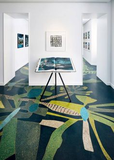 Artist Jonas Wood's flora and fauna covers the terrazzo flooring of Taschen Books' new store at Milan Design Week