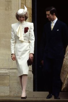 Charles and Diana 1985 /  Kate wore an astonishing likeness of this ensemble for Prince George's christening