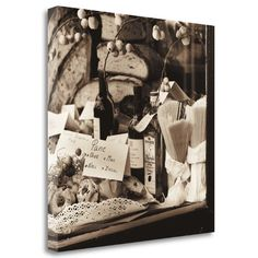 Tangletown Fine Art 'Pasta Pane e Vino' by Alan Blaustein Photographic Print on Wrapped Canvas