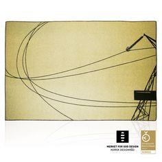 AWARD WINNING BLANKET, 100% Pure New Wool, yellow & black, limited edition, 200 x 130 cm.